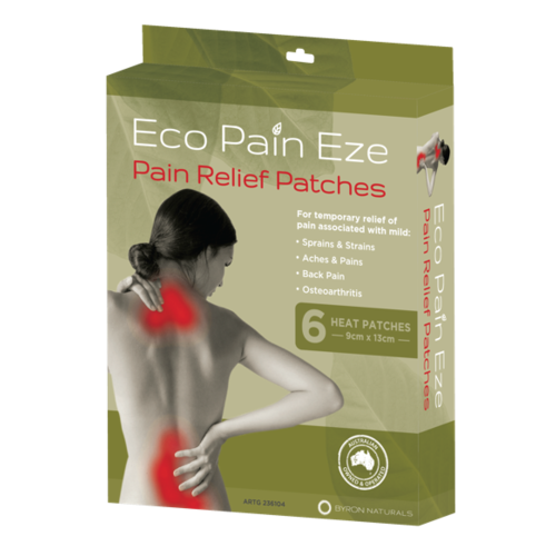 Eco Pain Eze - Pain Relief Patches | 4 boxes | 24 heat patches